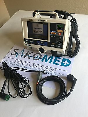 LifePak 20 3-Lead ECG, AED and Spo2 / RE-CERTIFIED