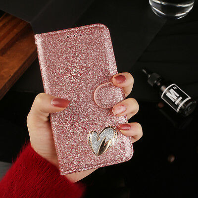 Bling Glitter Sparkly Leather Flip Wallet Phone Case Cover For iPhone 7 Plus X 8