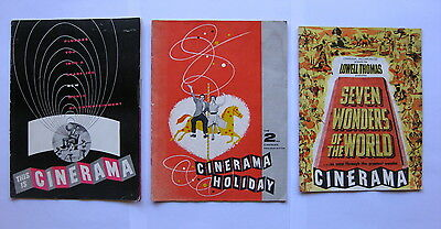 CINERAMA 1950s Original souvenir movie programmes x 3 Seven Wonders of World