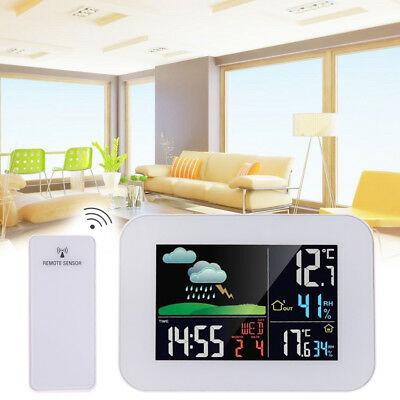 Digital LCD Wireless Weather Station Sensor Calendar Thermometer Home Outdoor