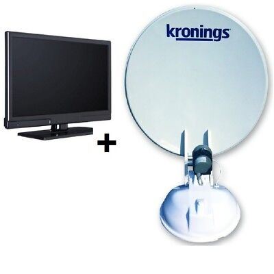 "Kronings Satelliten Antenne Ultra light vollautomatisch mit 20"" LED TV"