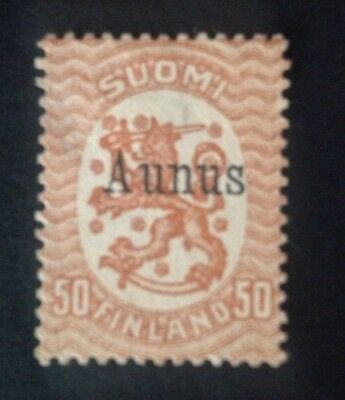 Finland Occupation Of Aunus 1919 50p Brown Mint Hinged. Rare