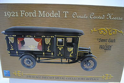 1 18 Precision Min 1921 Ford Model T Ornate Carved Hearse