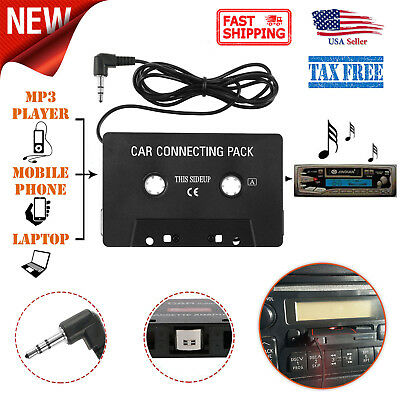 Car Music Audio Tape 3.5mm Cassette Player Adapter Aux Cable Cord For MP3 Phone
