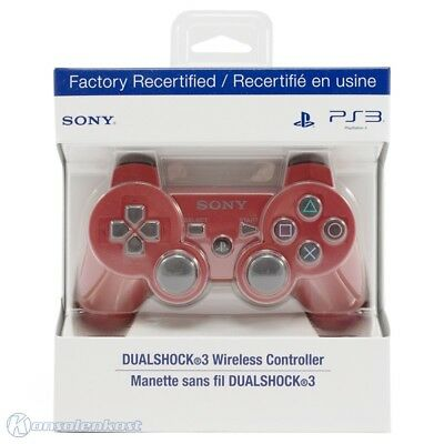 PS3 official DualShock3 Wireless pad red Certified Refurbished Sony boxed  MINT
