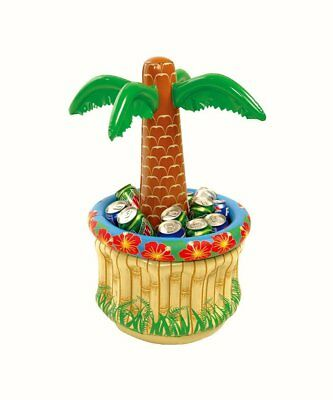 Inflatable Palm tree blow up drink beer cooler 66cm Hawaiian beach party chiller