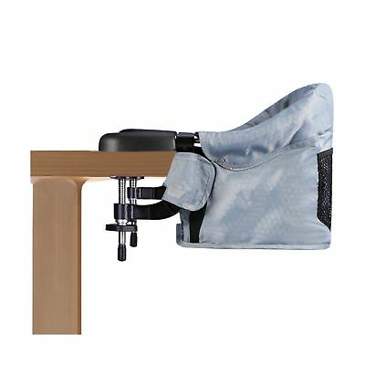 Clip On Table Chair, Steel Construction,High Load-Bearing Safety Design, 5-Po...