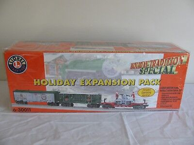 Lionel Holiday Expanshion Pack w/ Operating Santa & Mrs. Claus Hand Car #6-30011