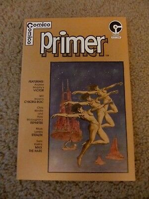 Comico Primer #5 - First Sam Keith - First Maxx - Max The Hare VG+ First Mage Ad