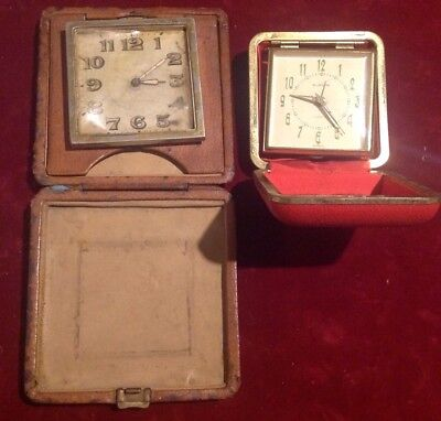 1920's & 1970's VINTAGE TRAVEL CLOCKS FOR RESTORATION