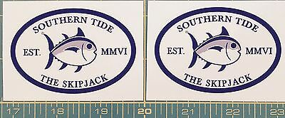 2 Southern Tide Skipjack Car Sticker Decal *free Shipping*