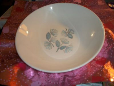 "Marcrest Blue Spruce Pinecone 9"" China Serving Bowl Mid-Century Hand Decorated"