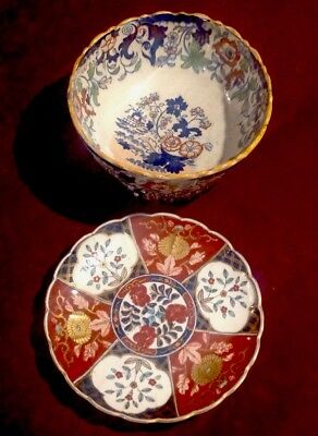 Amherst, Japan, Ironstone Bowl Plus A Foreign Plate