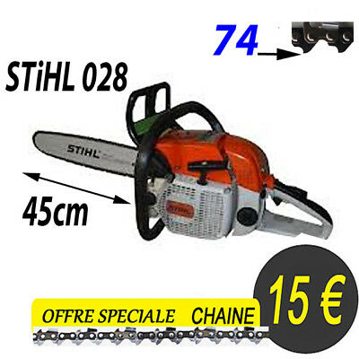 stihl 026 tronconneuse piece chaine pour guide coupe 45 cm 74 maillons 325 eur 15 00 picclick it. Black Bedroom Furniture Sets. Home Design Ideas