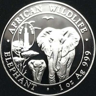 2015 Somalia Elephant 1 oz Silver Coin ANA Chicago Privy - Only 2,100 Minted!