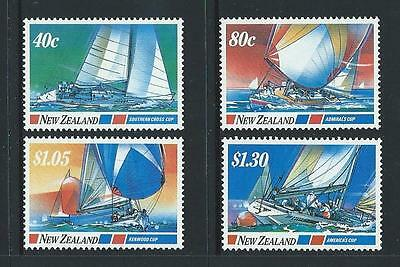 1987 NEW ZEALAND Yachting Events Set MNH (SG 1417-1420)