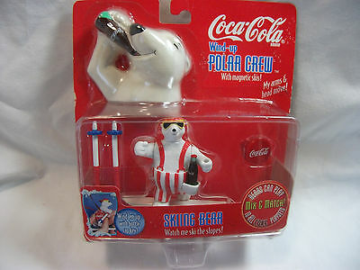 COCA COLA POLAR BEAR WIND UP ~SKIING BEAR~ 1998 MIP Factory Sealed