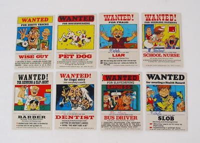 "Vintage 1975 Topps Chewing Gum ""Wanted"" Stickers , Lot of 8, Trading Cards"