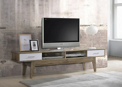 TV Stand Entertainment Unit Cabinet Storage LCD LED Drawer Furniture Oak Wooden