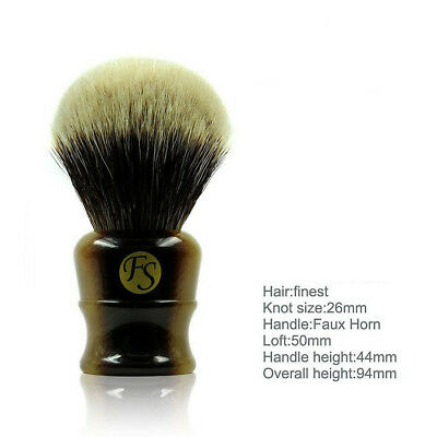 Frank Shaving - 26mm Finest Badger Shaving Brush - New - Australian seller