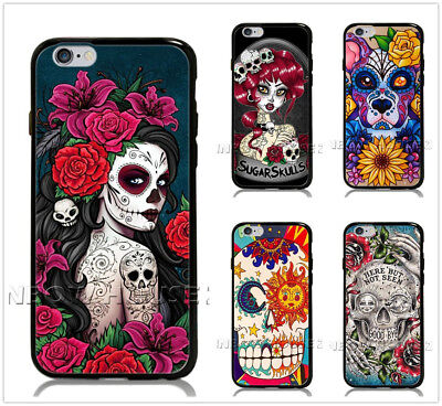 Sugar Skull Girl Tattoo Phone Case For iPhone iPod Samsung Galaxy S10 Cover