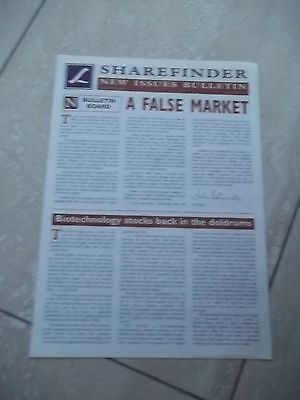 Sharefinder. New Issues Bulletin. October 1997  VERY INTERESTING