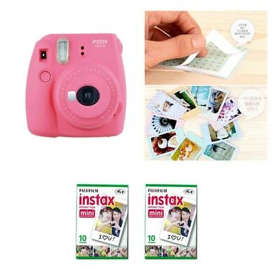 Fujifilm Instax Mini 9 Camera Flamingo Pink 2 Packs Fuji Film 20 Photo 8