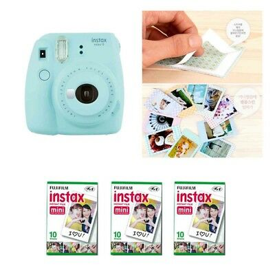 Fujifilm Instax Mini 9 Camera Ice Blue 3 Packs Fuji Film 30 Photo 8
