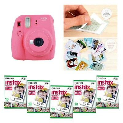 Fujifilm Instax Mini 9 Camera Flamingo Pink 5 Packs Fuji Film 50 Photo 8