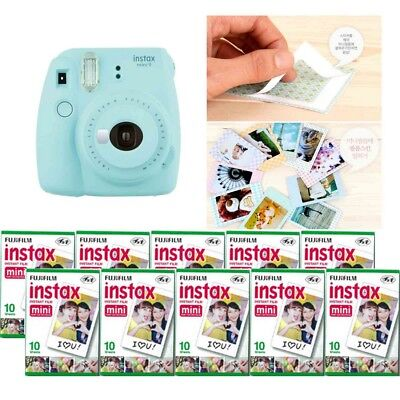 Fujifilm Instax Mini 9 Camera Ice Blue 10 Packs Fuji Film 100 Photo 8