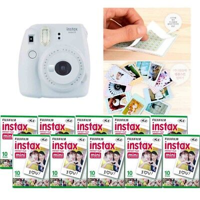 Fujifilm Instax Mini 9 Camera Smokey White 10 Packs Fuji Film 100 Photo 8