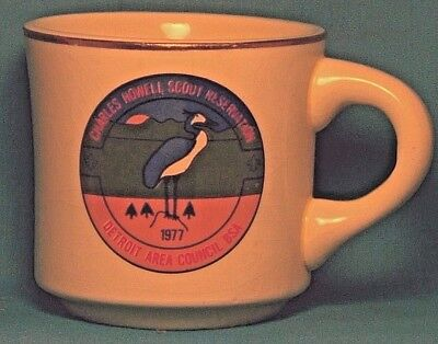 BOY SCOUTS Charles Howell Scout Reservation 1977 Detroit Area COFFEE CUP / MUG