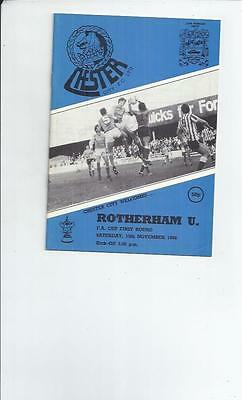 Chester City v Rotherham United FA Cup Football Programme 1986/87