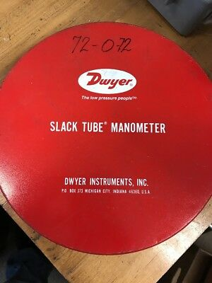 Dwyer Slack-Tube Manometer
