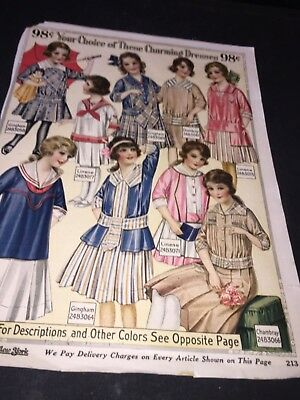 Vintage Charles William Store Girls 6 To 14 Dresses Page Ad