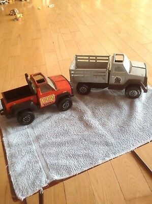 Vintage Tonka High Stake Truck Cattle Pressed Steel Toys Vehicle Off Road Truck
