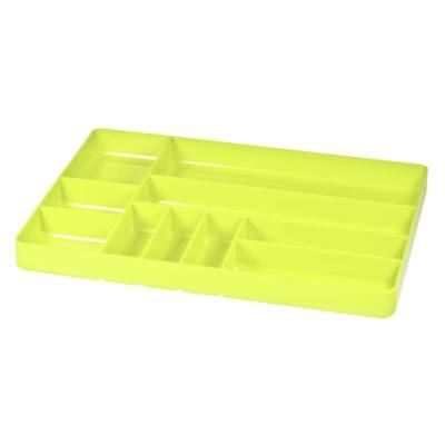"Ernst 5017 11"" x 16"" Ten Compartment Toolbox Organizer Tray  - HI-VIZ"
