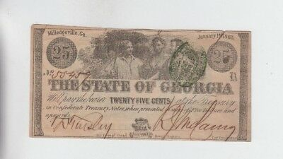 Obsolete Currency Georgia Great Advertisement note on back vf