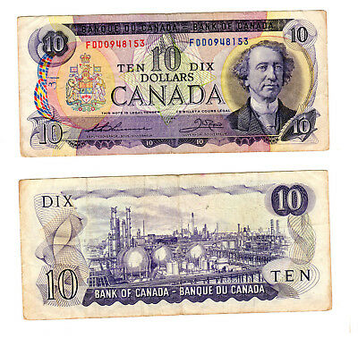Kanada, Bank of Canada 10 Dollars 1971, ss
