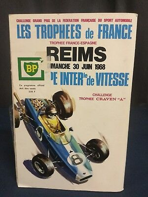 Rare Programme Circuit de Reims 12 heures Internationales 1968