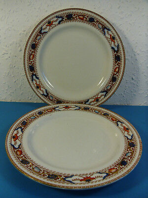 2 Antique S.Hancock & Sons Side Plates.Lotus Corona Ware Khang Chinese Style