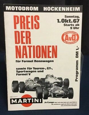 Rare Programme Grand Prix Des Nations HOCKENHEIM 1968