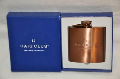 Haig Club Single Grain Scotch Whisky Copper Hip Flask Limited Edition New In Box