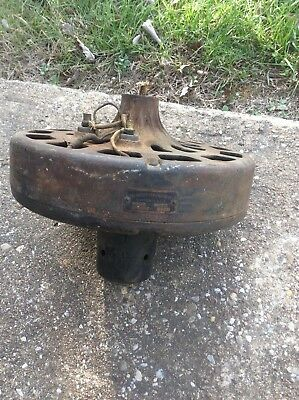 Antique ~ Dayton Fan and Motor Co Ceiling Fan ~ 1920 ~ Cast Iron Motor~ Runs!