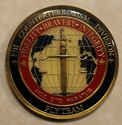 Federal Bureau of Investigation FBI Counterterrorism Fly Team Challenge Coin
