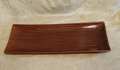 Partylite Pottery, China, Copper Color, Long Tray