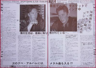 Alan Wilder DEPECHE MODE 1992 CLIPPING JAPAN MAGAZINE N4 B12 2PAGE
