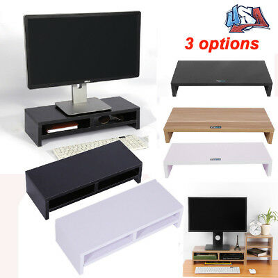 Computer Monitor Riser Desktop TV Stand  Desk Storage Shelf For Laptop PC US