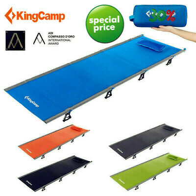 KingCamp Ultralight Folding Camping Bed Military Cot Portable Travel Sleepover