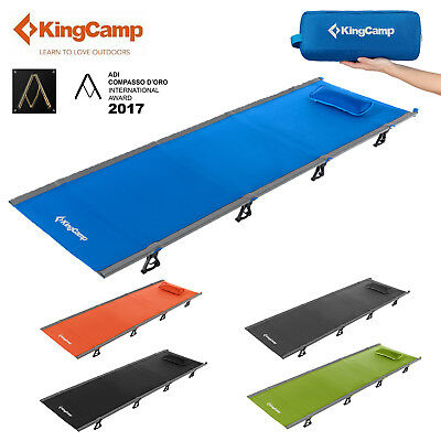 KingCamp Military Camping Folding Bed Cot Ultralight Sleepover Pillow Portable